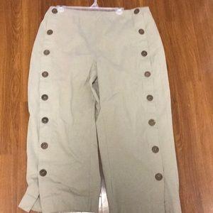 Wide Leg/crop light brown pants